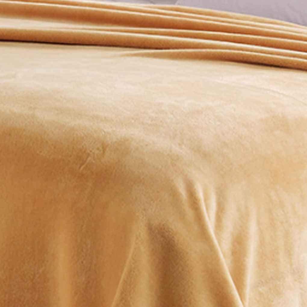 Hotaluyt S/ólido sof/á Cama Ropa de Tiro Franela Manta de Felpa edred/ón de la Cama Caliente del Invierno de Aire Acondicionado del Verano Bedsheet