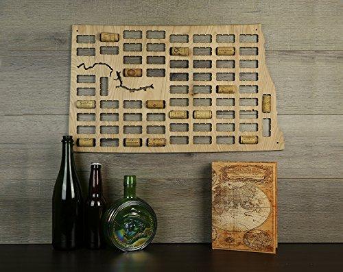 Wine Cork Traps State of North Dakota Wine Cork Decorative Wooden Organizer Cork Holder