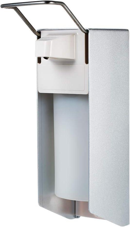Desinfektionsspender Seifenhalter Wei/ß Wandbefestigung Seifenspender Nicht leicht Fallen zu Lassen 99native Edelstahlgriff Hygienischer Seifenspender Soap Dispenser