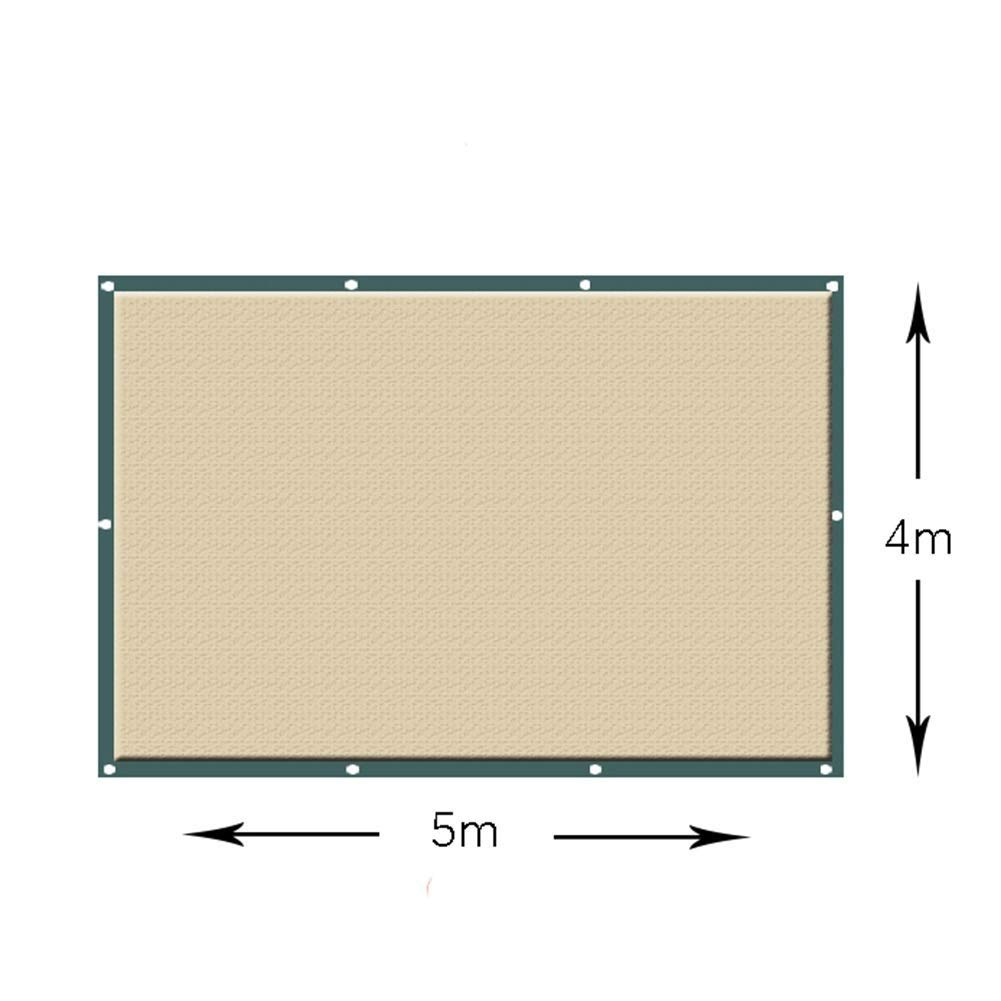ポータブル日焼け止めシェード布、ガーデンメッシュネッティングプラントカバーキャノピー、暗号化通気性保湿保護ネット ZHAOFENGMING (色 : ベージュ, サイズ さいず : 4×4m) 4×4m ベージュ B07R9W2YWR