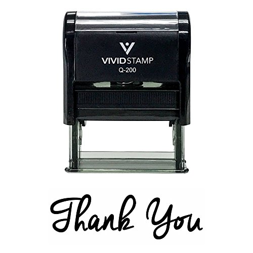 Thank You Self-Inking Rubber Stamp (Black) - Medium