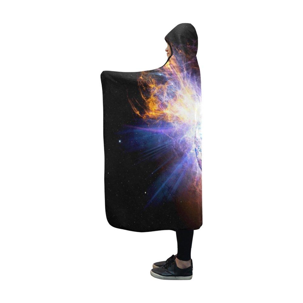 VNASKL Hooded Blanket Solar Flare Flare Explosion Ev Lacertae NASA Sun Blanket 60x50 Inch Comfotable Hooded Throw Wrap