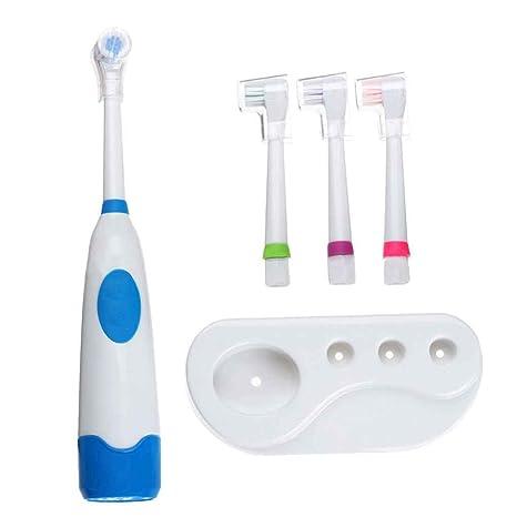 Rekkles Rotación de Cepillo de Dientes eléctrico, con 4 Cabezas de Dientes Oral Higiene del
