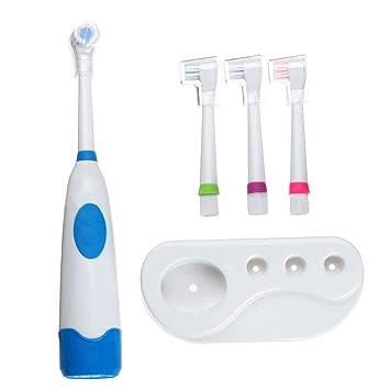 Babysbreath17 Rotación de cepillo de dientes eléctrico con 4 cabezas de dientes Oral Higiene del bebé niño de los cabritos cepillo Funciona con pilas: ...