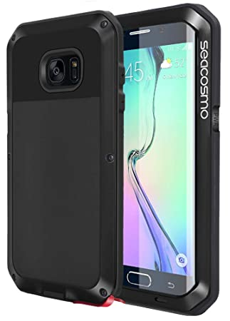 seacosmo Funda Compatible with Galaxy S6 Edge, [Rugged Armour] Carcasa Anti-Polvo Heavy Duty de Aleación de Aluminio Metal a Prueba de choques Case, ...