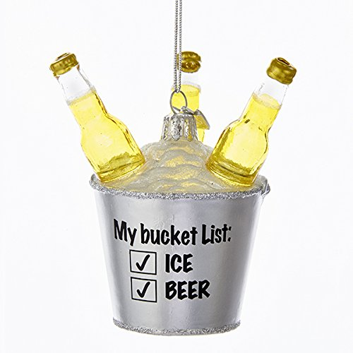 Kurt Adler NOBLE GEMS GLASS BEER BUCKET