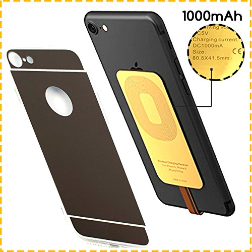 YTech Premium Fast Gold- QI Receiver For IPhone- 7-7Plus-6-6Plus-6S-5-5S-5C-Speedy iPhone QI Receiver for Wireless Charger, QI IPhone Receiver / Gold Wireless Receiver /QI Wireless Receiver for Iphone by YTech