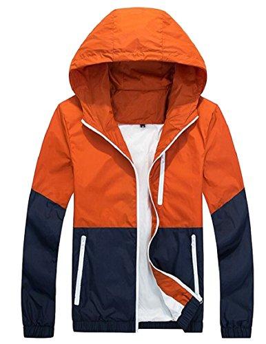 Long Thin Lightweight Jacket Men's Hooded security Windbreaker Sleeve up 2 Zip 4ZgfwnxT