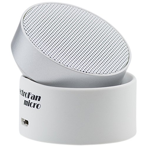 LectroFan Micro Wireless Sleep Sound Machine and Bluetooth Speaker with Fan Sounds, White Noise, and Ocean Sounds for Sleep and Sound Masking