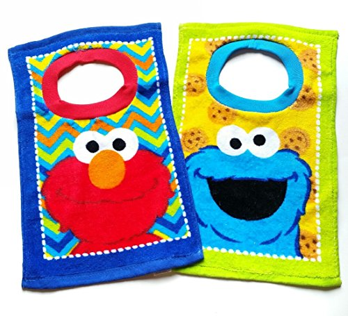 Sesame Street Elmo Toddler Baby Boys 2 Pack Bibs (Elmo Clothes For Toddlers)