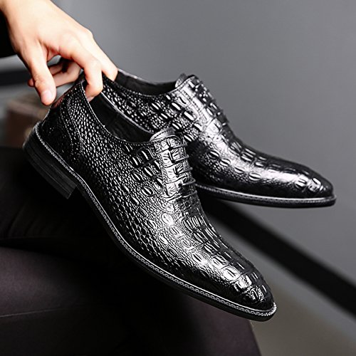 clearance very cheap Felix Chu Men's Italian Design Dress Shoes Crocodile Pattern Leather Shoes Oxford Shoes for Men Black in China sale online free shipping purchase AG7kN8