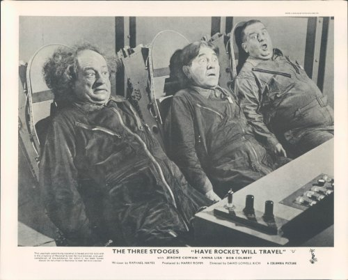 HAVE ROCKET WILL TRAVEL ORIGINAL BRITISH LOBBY CARD THE THREE STOOGES MO CURLY -
