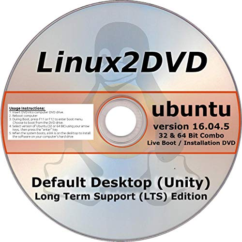 Ubuntu Linux 16.04 LTS 32 & 64 Bit - Latest Long Term for sale  Delivered anywhere in USA