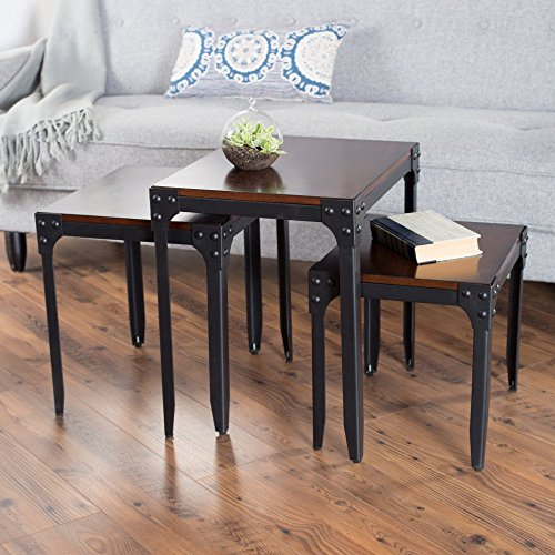 Belham Living Trenton Industrial Nesting Table Set by belham