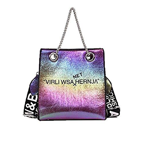 Bolsos de mano de verano Nuevo Laser Cajas de bolsas Cartas Bolsas de mensajero de hombro Bolsas de gran capacidad Bolsas de mano Colorful