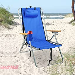 Backpack Beach Chair - WearEver Deluxe Portable Chair with Cooler Ready Storage