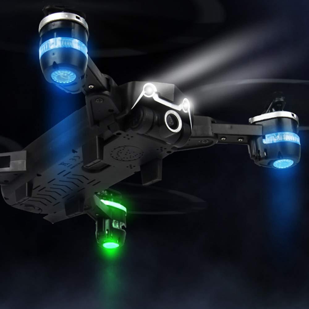 HXZM 1080P HD-Kamera, Beste Drohne für Einsteiger, Höhenlage, Sprachsteuerung, G-Sensor, Gleisflug, 3D-Flip, kopflose Bedienung, EIN Knopfbetrieb, 2 Akkus, schwarz weiß,schwarz