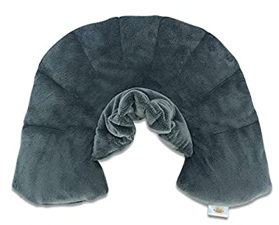 Heat Therapy Neck, Shoulder & Upper Back Muscle Pain Relief Microwaveable Wrap By Savasana Now - Reusable Soothing Heating Aromatherapy Pad - Natural Body Comfort Physical Therapy - Soft Plush Fabric