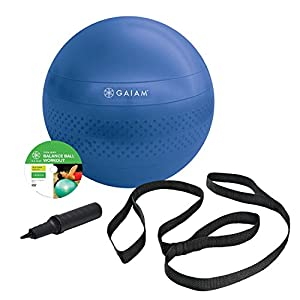 Gaiam Total Body Balance Ball Kit by Gaiam