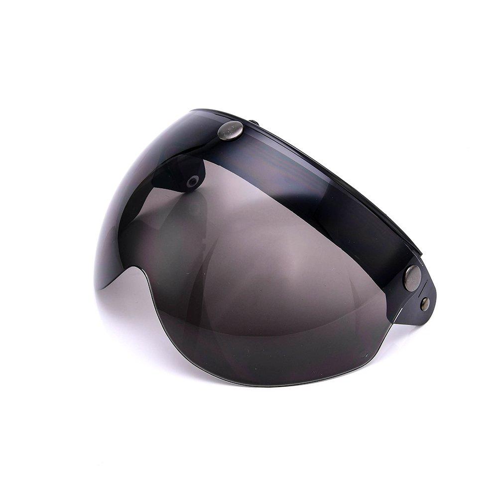 MotorsFansClub, visiera per casco da moto, montaggio con 3 bottoni a scatto, universale, adatta a tutti i caschi aperti MotorFansClub FBA-888812563_2-UK