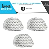6 Powerfresh Steam Cleaner Mop Pad Microfiber Replacement. Bissell Bissel 5938 and 203-2633 Comparable for 1940 Series Models. Home Revolution Brand Aftermarket Quality. 6-PK