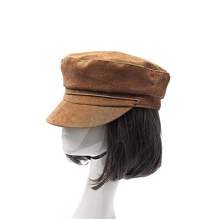 Gorra militar para mujer, gorra de vendedor de periódicos Gorra ...