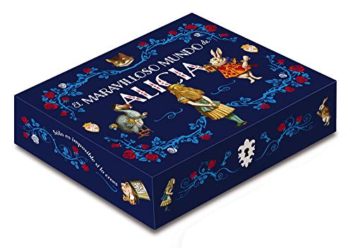 Caja maravilloso mundo de Alicia Incluye 2 libros, libreta, 5 postales y un iman (Caja Clasicos Ilustrados)