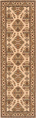 Momeni Rugs PERGAPG-01IVY2680 Persian Garden Collection, 100% New Zealand Wool Traditional Area Rug, 2'6
