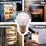 Oven Light Bulbs – 40 Watt Appliance Replacement Bulbs for Oven, Stove, Refrigerator, Microwave. Incandescent - High Temp G45 E26/E27 Socket. Medium Brass Lead-Free Base - 400 Lumens - Clear. 2 Pack 7