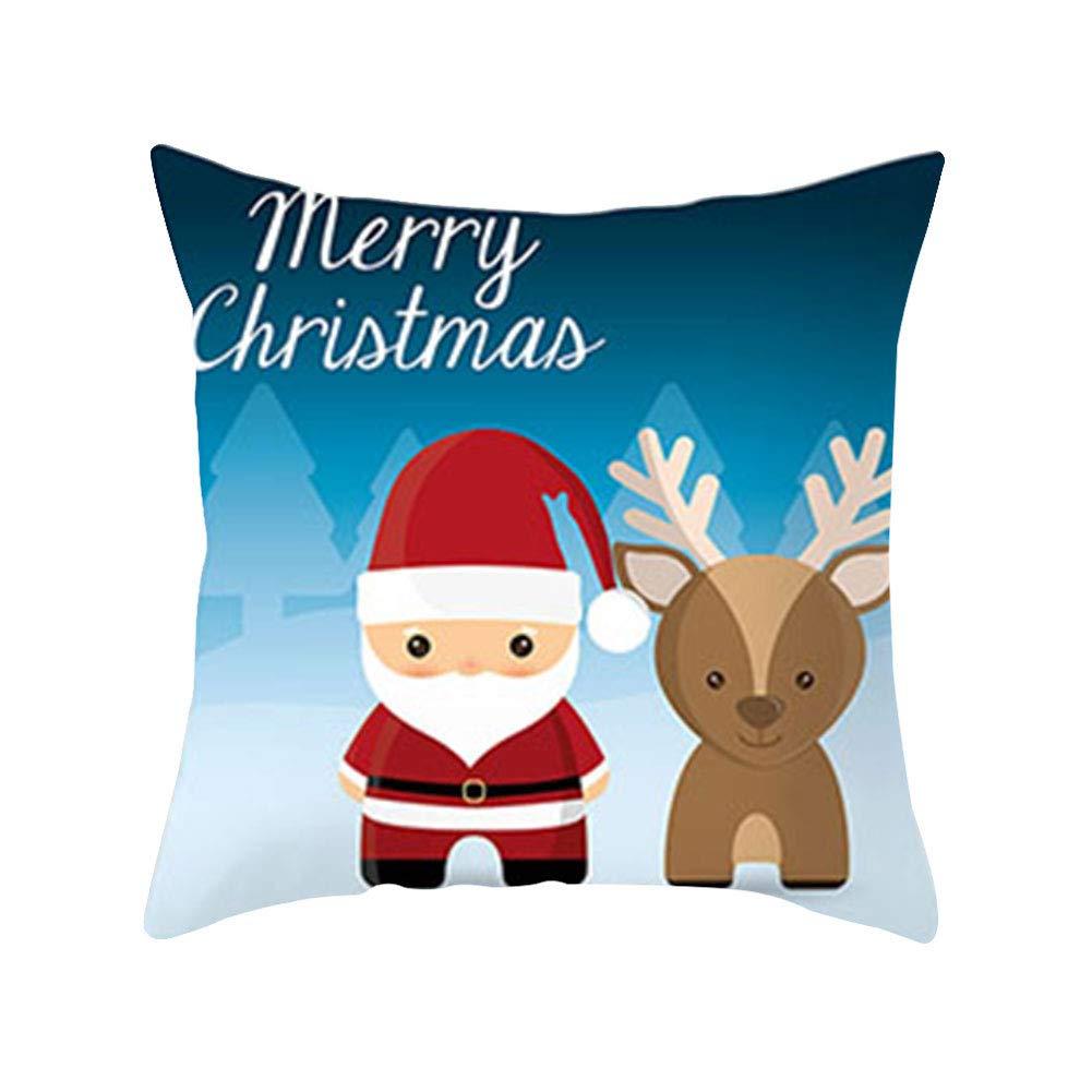 osmanthusFrag 45 45 Copo De Nieve Patr/ón Feliz Navidad Funda De Almohada Funda De Coj/ín De Piel De Melocot/ón Coche Oficina Sof/á Cama Decoraci/ón 1#
