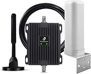 Cell Phone Signal Booster for RV, Motorhome, Camper, Cabin, Trailer and Boat - Dual Band 12/13/17 700Mhz Mobile Cellular Repeater Kit Boosts 4G Data and Volte for Multiple Users.