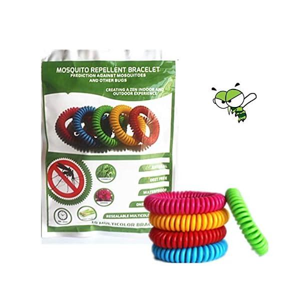 Xentury 2020 - Braccialetto repellente per zanzare, confezione da 10, protezione per 300 ore – Naturale senza DEET… 1 spesavip