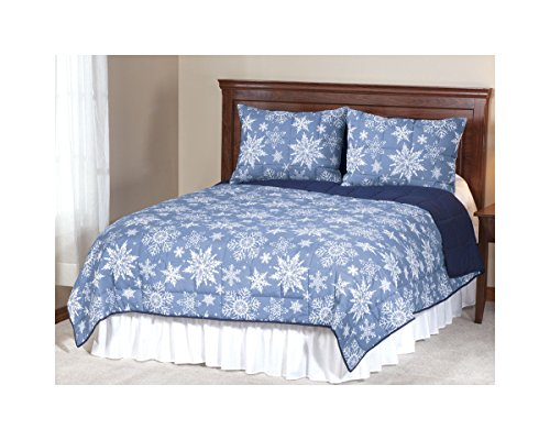 Miles Kimball Reversible Snowflake Microfiber Comforter