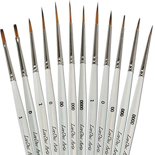 00 fine detail paint brushes - 8