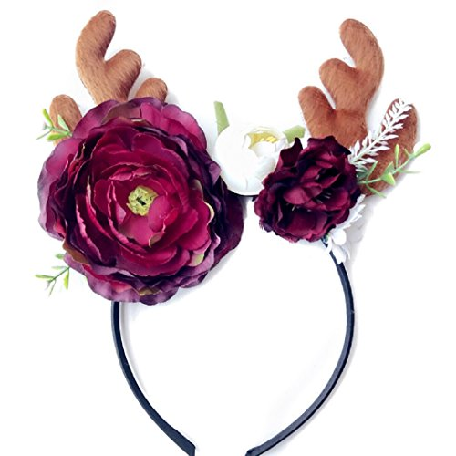 Baby Hair Clip Deer Antler Flower Headband for Christmas Easter Party, by FUNNY365 (1#)