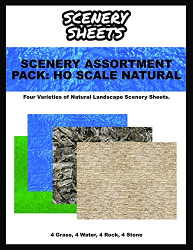 Ho Scale Retaining Wall - Model Train Scenery Sheets - HO Scale Natural Landscape Assortment Pack
