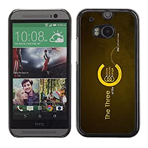 QCASE / HTC One M8 / opciones probabilidades cambian cita de motivación vida / Delgado Negro Plástico caso cubierta Shell Armor Funda Case Cover