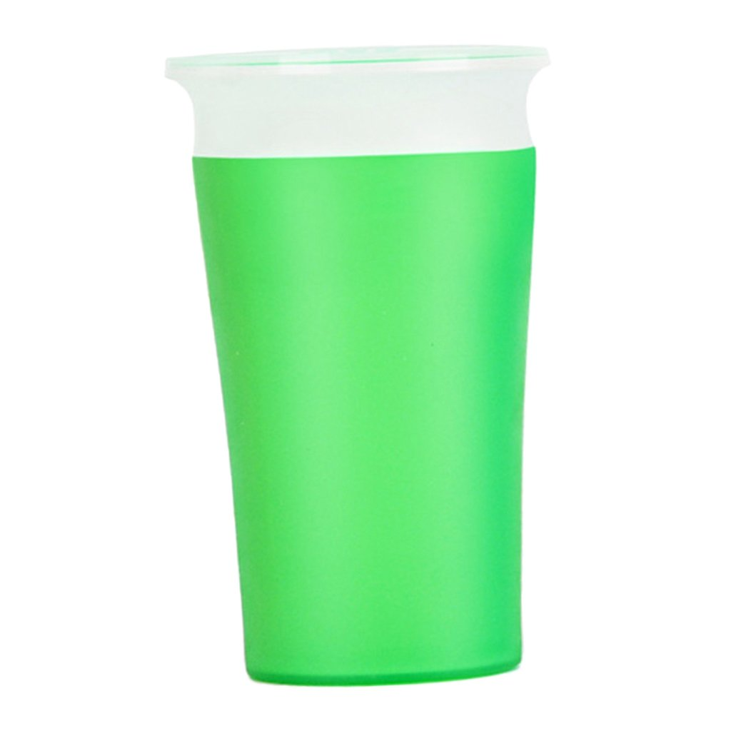 D DOLITY Munchkin Miracle 360 Degree Trainer Cup Sippy Spills Toddler BPA FREE Handle - Green, as described