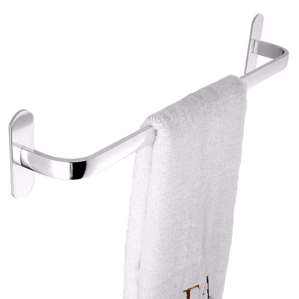 lingke Barra de Toalla bantilde;o toallero Ventosa bantilde;o Aluminio unipolar unipolar unipolar punzonado Libre 50 cm Moderno Montaje Autoadhesivo o de Tornillos cb543a