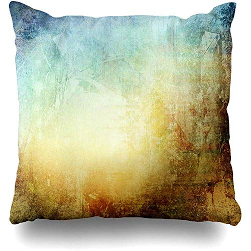 Throw Pillow Cover Shadow Watercolor Urban Color Blue Brown Stripes Light Paint Pattern Interesting Design Col Home Decor Cushion Case Square Size 18