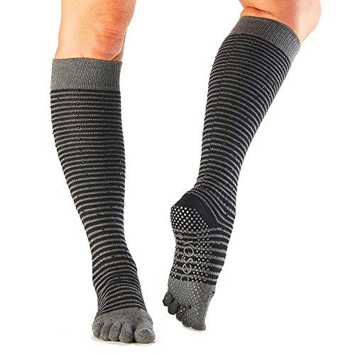 Toesox Womens Grip Pilates Barre Socks – Non Slip Scrunch Full Toe for Yoga & Ballet