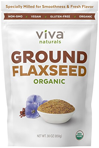Viva Naturals - The BEST Organic Ground Flax Seed, Proprietary Cold-milled Technology, 30 oz