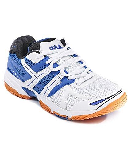 Rubber White \u0026 Blue Tennis Shoes