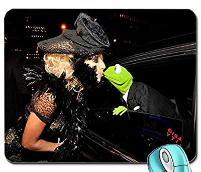 Animals music lady gaga kermit the frog 3000x2062 wallpaper mouse pad computer mousepad