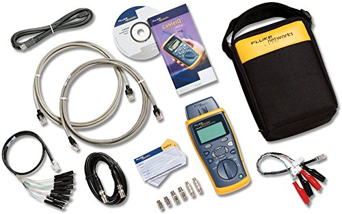 Fluke Networks CIQ- KRQ Copper Qualification Tester Kit, Troubleshoots RJ11, RJ45, Coax, Tests 10/100/1000, VoiP and CATV