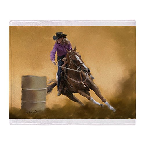 CafePress - Barrel Racing Throw Blanket - Soft Fleece Throw Blanket, 50