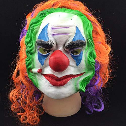 Clown Mask - Color Random 1pcs Scary Clown Mask Joker Men 39 S Full Face Horror Funny Masquerade Costume - White Mask Loftus Bear Adult Movie Alien Funny Clown Halloween -