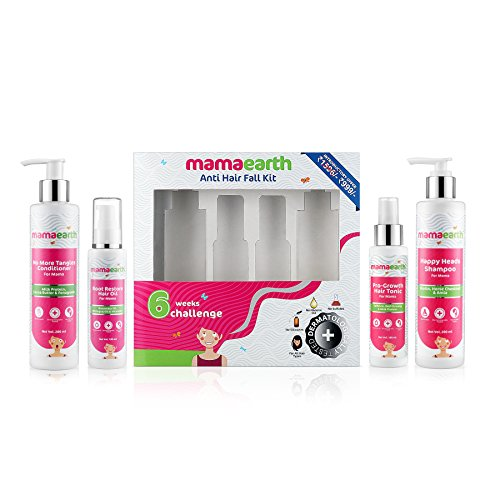 Shampoo Protein Himalaya (Mamaearth Anti Hair Fall Kit Complete Protection with Oil, Shampoo, Conditioner & Tonic, Made in the Himalayas)