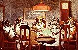 7 Dogs PLaying Poker Metal Tin Sign 16W x 10.5H , 16x11