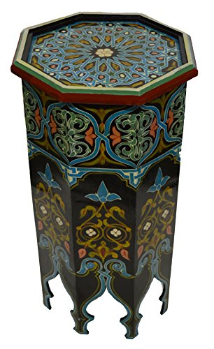 Moroccan Wood Side End Table Corner Coffee Handmade Hand